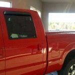 Red Leer Tonneau Cover NH view from the side.