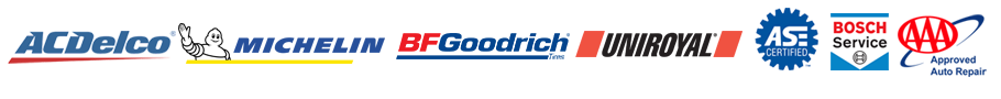 AcDelco | BF Goodrich | Michelin | Uniroyal | ASE | BOSCH | AAA