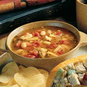 Hearty Chicken, Bean and Sausage Soup
